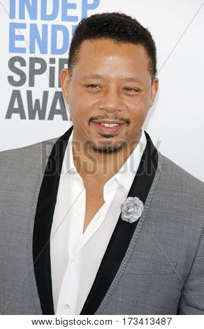 Terrence Howard at the 2017 Film Independent Spirit Awards held at the Santa Monica Pier in Santa Monica, USA on February 25, 2017.