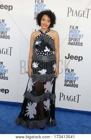 Kiersey Clemons at the 2017 Film Independent Spirit Awards held at the Santa Monica Pier in Santa Monica, USA on February 25, 2017.