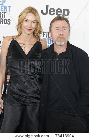 Tim Roth and Nikki Butler at the 2017 Film Independent Spirit Awards held at the Santa Monica Pier in Santa Monica, USA on February 25, 2017.