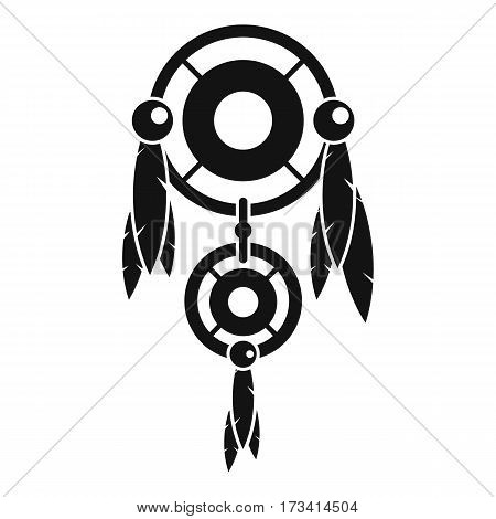 Native american dreamcatcher icon. Simple illustration of native american dreamcatcher vector icon for web