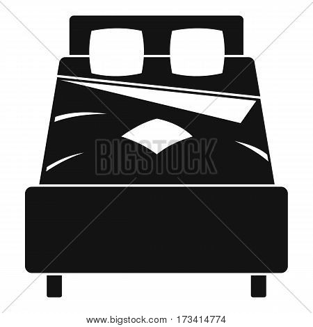 Bed icon. Simple illustration of bed vector icon for web