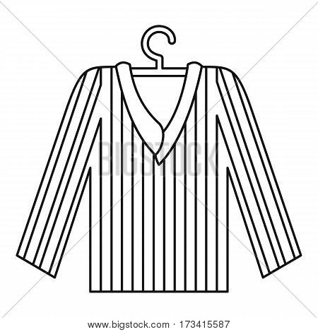 Pajama shirt icon. Outline illustration of pajama shirt vector icon for web