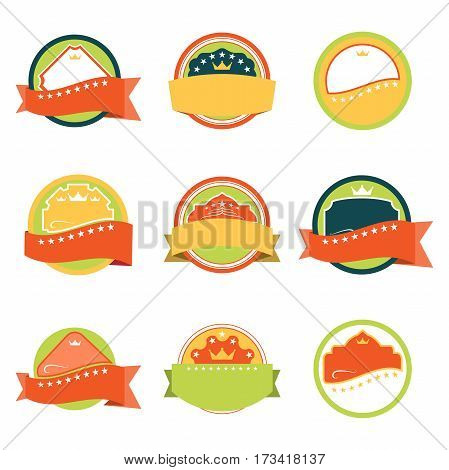 Retro isolated labels for e-commerce and trade set.
