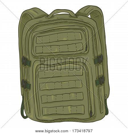 Vector Single Cartoon Tactical Army Backpack