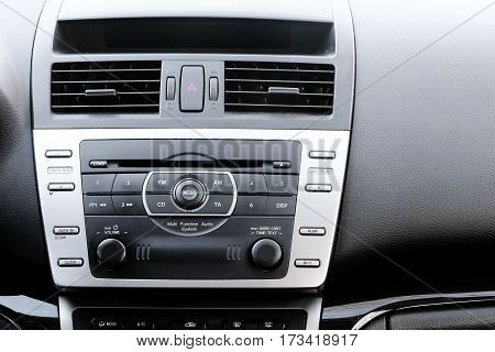 Control panel and cd in a modern car