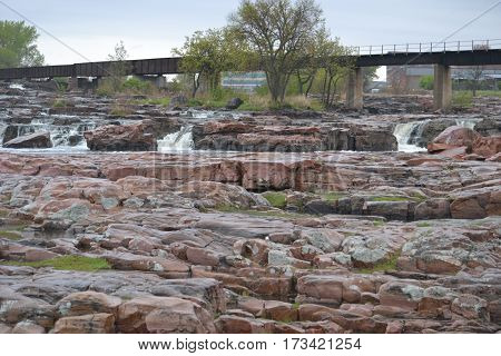 Sioux Falls, South Dakota on a rainy spring morning