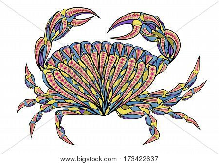 ethnic isilated crab on a white background
