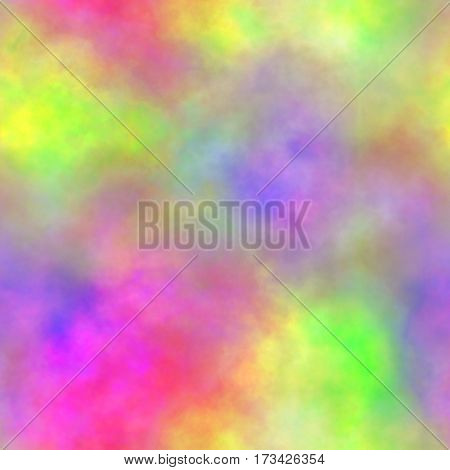 Abstract colorful smoke Multicolor clouds Rainbow cloudy pattern Blurry gas Blurs Steam Fog Foggy color spectrum Texture background Seamless illustration