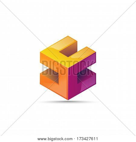 Imagination Abstract Shape Block Element Icon For Business Logo. Imagination Abstract Form, The Icon