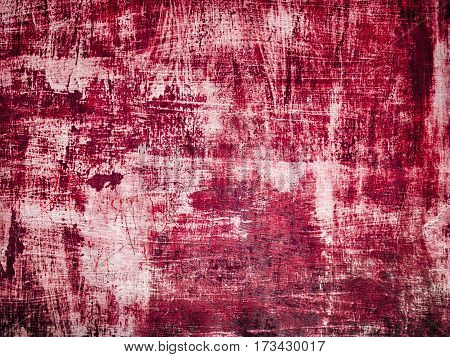 Red grunge wall for texture background or design