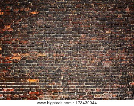 Texture Of A Brick Wall As Background, Grunge Surface With A Vintage Effect