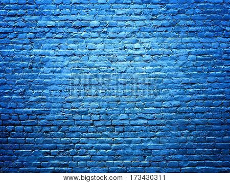 Blue Brick Wall Stone Texture Background For Design