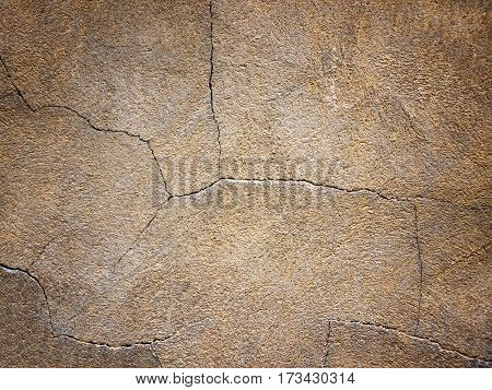 Dark Background, Brown Texture Of Wall With Cracks
