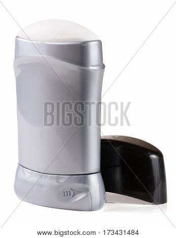 male deodorant stick isolated on white background.