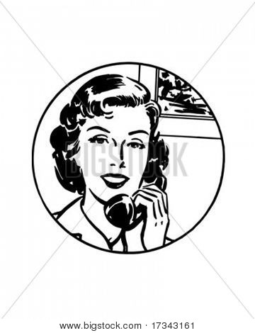 It's Easiest By Phone #1 - Retro Clip Art