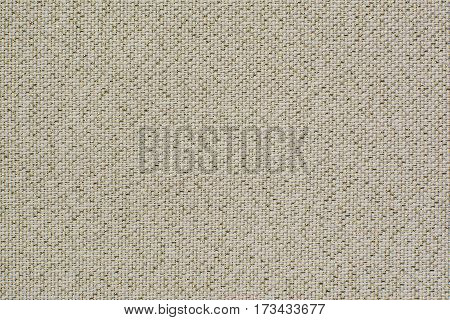 Natural linen fabric with brilliance golden lurex. Beige aida texture for the background