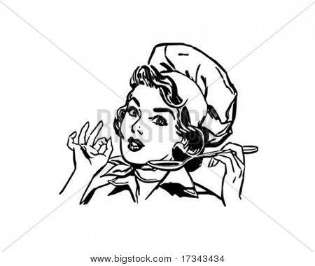 Lady Chef - Retro ClipArt