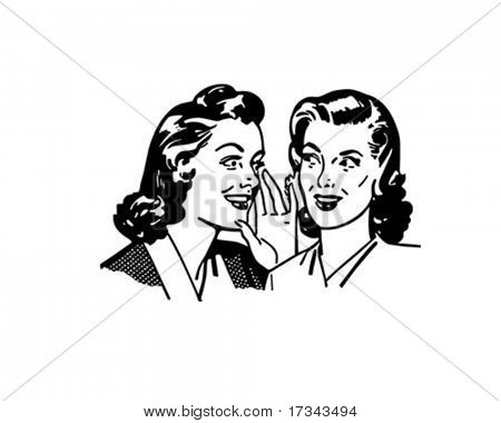 Gossiping Women - Retro Clip Art poster