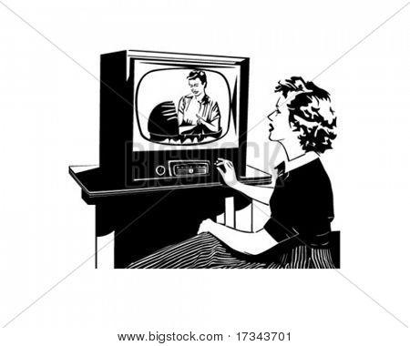 What's On TV - Retro Clip Art