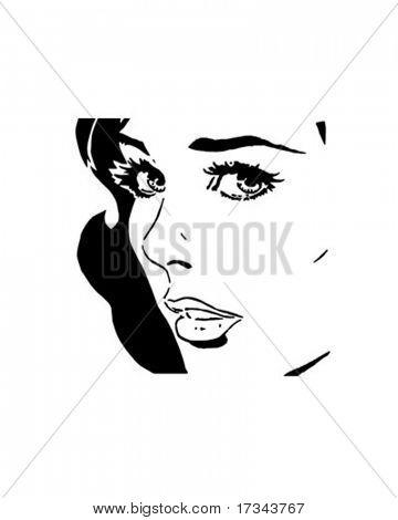 Sultry Woman - Retro Clip Art