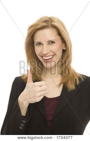 A Businesswoman Gestures