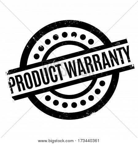 Product Warranty rubber stamp. Grunge design with dust scratches. Effects can be easily removed for a clean, crisp look. Color is easily changed.