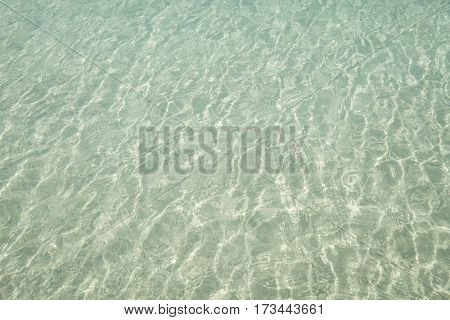 Clear ocean surface on a sunny day