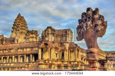 Angkor Wat Main Temple at Siem reap - Cambodia. It is a UNESCO world heritage site