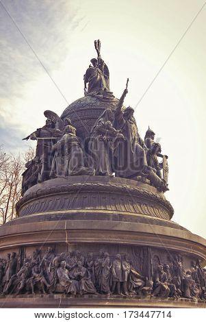 Novgorod the Great city, Monument Millennium of Russia