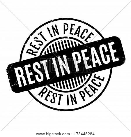 Rest In Peace rubber stamp. Grunge design with dust scratches. Effects can be easily removed for a clean, crisp look. Color is easily changed.