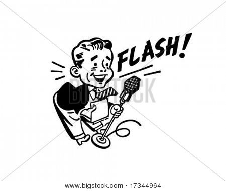 News Flash - Retro Clip Art