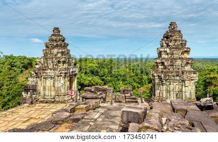 Phnom Bakheng, a Hindu and Buddhist temple at Angkor Wat in Cambodia