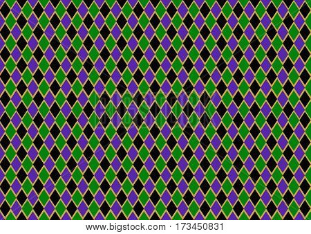 ckeckered mardi gras, fat tuesday, background, black, purple, gold and green