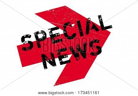 Special News rubber stamp. Grunge design with dust scratches. Effects can be easily removed for a clean, crisp look. Color is easily changed.