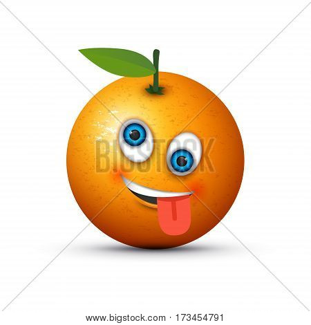 an orange crazy emoji on an orange