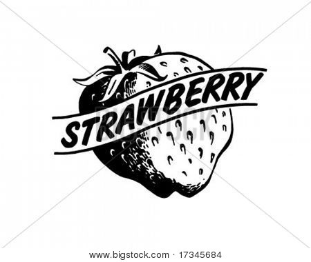 Strawberry - Retro Clip Art