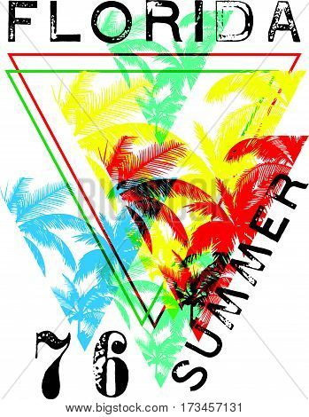 Florida summer tee graphic design fashion style