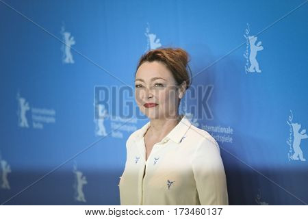 Catherine Frot attends the 'The Midwife' (Sage Femme) photo call during the 67th Film Festival Berlin at Grand Hyatt Hotel on February 14, 2017 in Berlin, Germany.