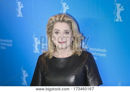 Catherine Deneuve attends the 'The Midwife' (Sage Femme) photo call during the 67th Film Festival Berlin at Grand Hyatt Hotel on February 14, 2017 in Berlin, Germany.