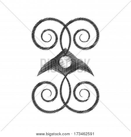 drawing decorate ornate style object vector illustration eps 10