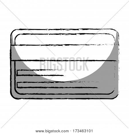 monochrome blurred contour with credit card vector illustration