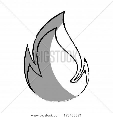 monochrome blurred contour with flame close up vector illustration