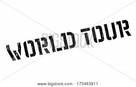 World Tour rubber stamp. Grunge design with dust scratches. Effects can be easily removed for a clean, crisp look. Color is easily changed.