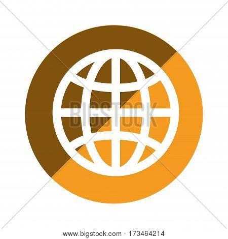 color circular emblem of world map vector illustration