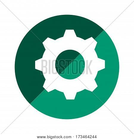 color circular emblem with gear vector illustration