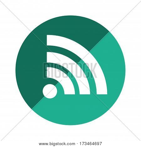 color circular emblem with wifi icon vector illustration