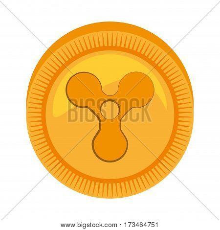 quarkcoin money golden icon vector illustration eps 10