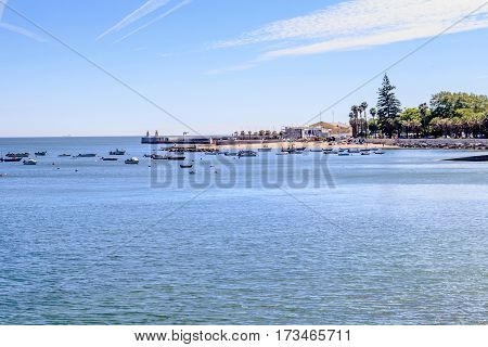 View of the old beach at Paço de Arcos Portugal
