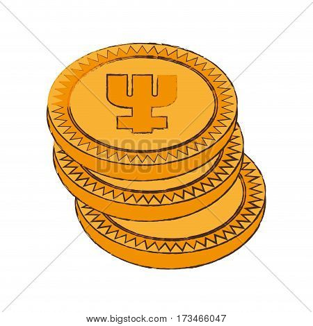 primecoin cryptocurrency stack icon vector illustration eps 10