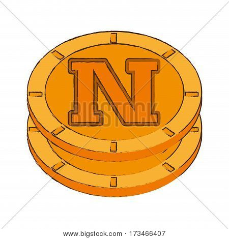 novacoin cryptocurrency stack icon vector illustration eps 10